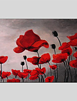 Hand-Painted Floral/Botanical Horizontal Panoramic,Others One Panel Canvas Oil Painting For Home Decoration