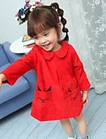 Girl's Print Dress Spring Winter Long Sleeve
