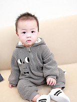 Baby Solid Color One-Pieces,Cotton Autumn/Fall Long Sleeve