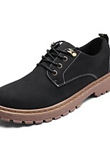 Men's Shoes PU Spring Fall Formal Shoes Cowboy / Western Boots Fashion Boots Oxfords For Casual Camel Brown Black