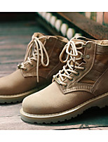 Women's Shoes Nubuck leather Fall Winter Combat Boots Fashion Boots Boots Booties/Ankle Boots For Casual Beige