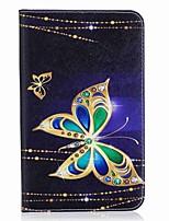 carteira de cartão de padrão de borboleta com suporte flip caixa de couro magnético para Samsung Galaxy Tab a 7.0 t280 t285 tablet de 7,0