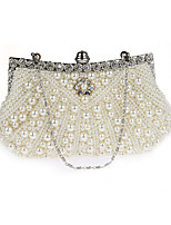 Women Bags PVC Evening Bag Pearl Detailing for Wedding Event/Party All Seasons Champagne Black Beige