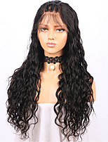 Women Human Hair Lace Wig Brazilian Human Hair Lace Front 130% Density Layered Haircut With Baby Hair Loose Wave Wig Black Medium Brown