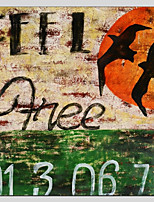 Peint à la main Abstrait Abstrait Réalisme Pastoral 14pcs Toile Peinture à l'huile Hang-peint For Décoration d'intérieur