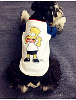 Dog Shirt / T-Shirt Dog Clothes Casual/Daily Cartoon White