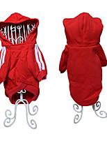 Chien Pulls à capuche Sweatshirt Vêtements pour Chien Coton Hiver Printemps/Automne Décontracté / Quotidien Sportif Solide Noir Rouge