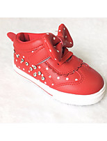 Girls' Shoes Synthetic Microfiber PU Fall Winter Comfort Flats For Casual Blushing Pink Red White
