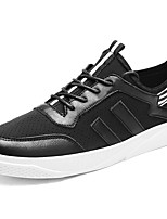 Men's Shoes Fabric Spring Fall Comfort Sneakers For Casual Black White