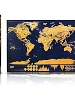 Scratch Off Map of the World for Travelers Toys Map Classic 1 Pieces