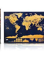 Grattez la carte du monde pour les voyageurs Jouets Carte Classique 1 Pièces