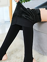 Women's Thick Fleece Lined Legging,Solid