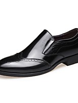 Men's Shoes Cowhide Spring Fall Comfort Loafers & Slip-Ons Lace-up For Casual Office & Career Black