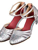 Women's Modern Synthetic Microfiber PU Net Sneaker Indoor Buckle Low Heel Gold Silver Red Dark Gray