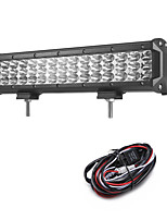 135W 13500LM 6000K 3-Rows LED Work Light Cool White Spot Offroad Driving Light for Car/Boat/Headlight IP68 9-32V  2m 1-To-1 Wiring Harness Kit