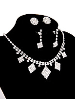 Women's Chain Necklaces Rhinestone Alloy Jewelry For Wedding Party Engagement