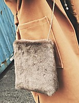 Women Bags Fur Shoulder Bag Feathers / Fur for Event/Party Casual Winter Black Beige Gray