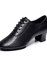 Women's Modern PU Leatherette Heel Performance Black Customizable