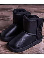 Girls' Shoes Cowhide Fall Winter Comfort Snow Boots Boots For Casual Brown Black