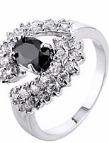 Men's Women's Knuckle Ring Engagement Ring Cubic Zirconia Zircon Copper Irregular Jewelry For Wedding Party Birthday Graduation Engagement