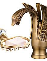 Mittellage Verbreitete with  Keramisches Ventil Einhand Ein Loch for  Öl-riebe Bronze , Waschbecken Wasserhahn