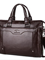 Men Bags All Seasons Other Leather Type Briefcase Zipper for Casual Chocolate Black Brown