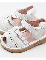 Girls' Shoes Real Leather Fall Winter Comfort Sandals For Casual White