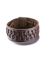 Men's Women's Leather Bracelet Jewelry Friendship Punk PU Alloy Round Jewelry Jewelry For Daily Casual Stage Office & Career Street