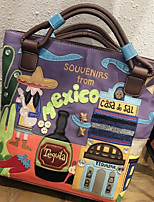Women Bags All Seasons Canvas Tote Zipper for Casual Camel Light Purple Black