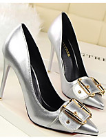 Women's Shoes Patent Leather Spring Fall Comfort Basic Pump Heels for Casual White Black Silver Red Nude