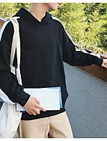 Felpa Da uomo Semplice Casual Tinta unita Rotonda Media elasticità Cotone Manica lunga Autunno