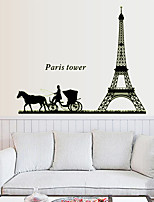 Architecture Fashion Landscape Wall Stickers Plane Wall Stickers Decorative Wall Stickers,Vinyl Material Home Decoration Wall Decal