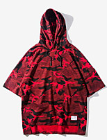 Men's Sports Holiday Hoodie Print Hooded Micro-elastic Polyester ¾ Sleeve Spring Fall