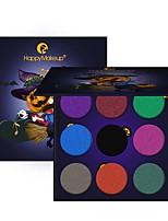 9 Eyeshadow Palette Dry Matte Shimmer Mineral Eyeshadow palette Daily Makeup Halloween Makeup Party Makeup Fairy Makeup Cateye Makeup
