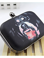 Women Bags All Seasons Satin Clutch Buttons for Black