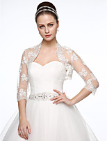 Tulle Wedding Party / Evening Women's Wrap With Beading Embroidery Shrugs