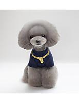 Gato Perro Camiseta Ropa para Perro Fiesta Casual/Diario Año Nuevo Letra y Número Gris Rojo Azul Disfraz Para mascotas