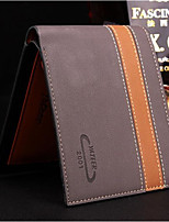 Men Bags All Seasons Cowhide Wallet Tiered for Event/Party Formal Coffee Sillver Gray Brown