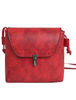 Women Bags PU Shoulder Bag Zipper for Casual All Seasons Black Red Light Gray Brown
