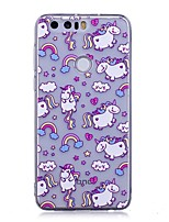 cheap -Case For Huawei P9 Lite Huawei Huawei P8 Lite P10 Lite IMD Transparent Pattern Back Cover Unicorn Cartoon Soft TPU for P10 Lite Huawei P9