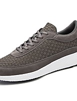 Men's Shoes Rubber Spring Fall Comfort Sneakers Lace-up For Outdoor Red Gray Black
