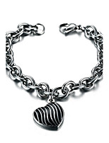 Men's Women's Chain Bracelet Punk Rock Titanium Steel Heart Jewelry For Party Gift