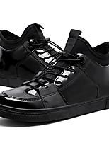 Для мужчин обувь Дерматин Весна Лето Удобная обувь Кеды На эластичной ленте Назначение Повседневные Черный
