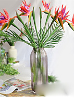 1 Rama Poliéster Strelitzia Flor de Mesa Flores Artificiales
