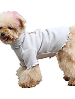 Dog Vest Dog Clothes Casual/Daily Solid Gray Costume For Pets