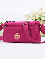 Women Bags Nylon Shoulder Bag Zipper for Casual All Seasons Red