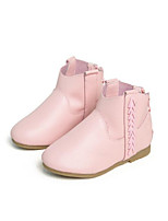 Girls' Shoes Cowhide Fall Winter Comfort Boots For Casual Blushing Pink Black White