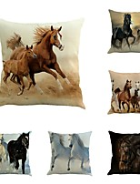 Set Of 6 Fashion Horses Gallop Pillow Cover Creative Home Decor Horse Pillow Case