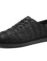 Men's Shoes Fabric Spring Fall Comfort Sneakers Lace-up For Casual Black