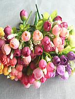 22 cm 5 pcs 5 fleurs / pc décoration de la maison fleurs artificielles multicolores fleur bourgeon